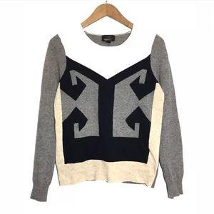 J.Crew Intarsia Sweater Women's Small Long Sleeve